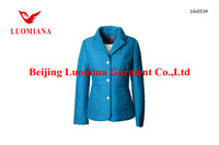 oem luomina short spring&fall formal wear jackets women thin padding overcoat ladies work clothes garment