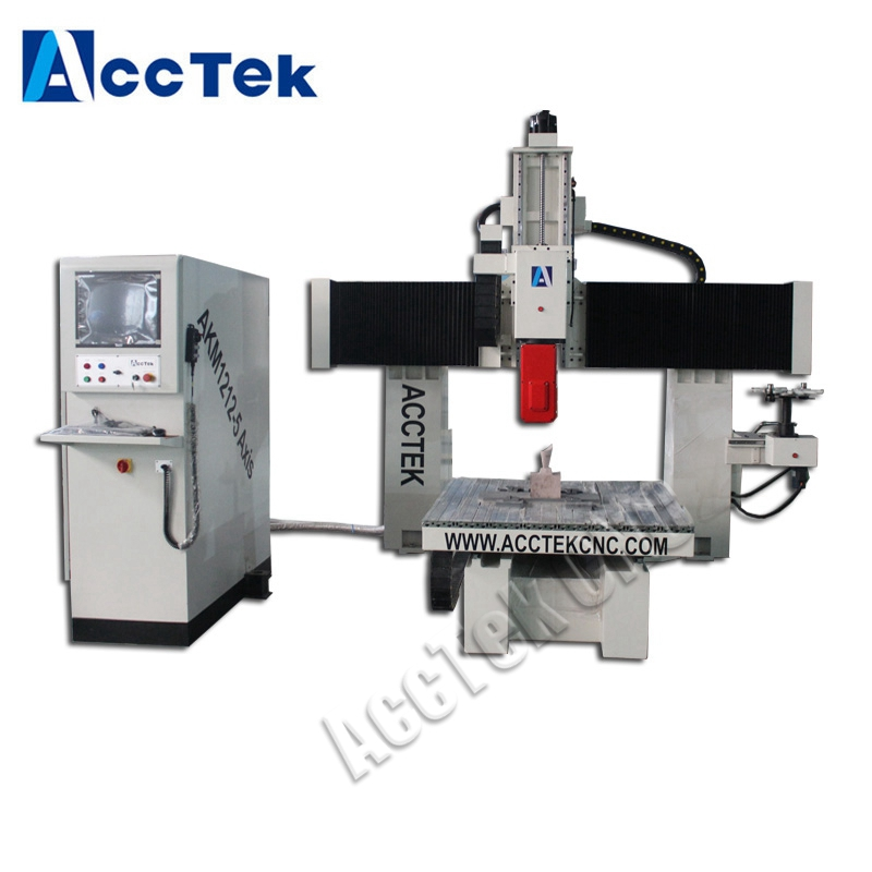 Multi-function stone cnc router cnc 5-axis head AKM1212-5AXIS Machine