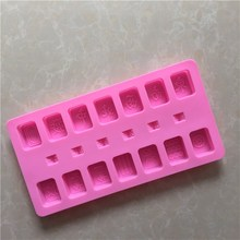 online shopping Chinese Mahjong Dice Unique Cake Decorating Silicone Molds Chocolate Ice Cube Soap Candy Mahjong Silicone Molds