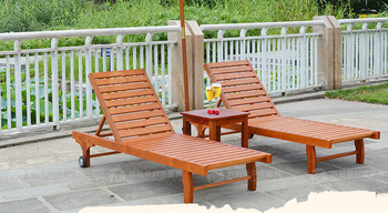 hot sale outdoor leisure wooden beach chair with high quality