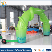 Inflatable green tree arch for sale