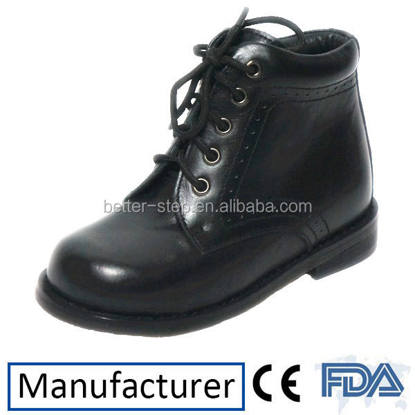 Leather Formal Children Orthopedic Shoes