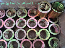 CNC machinery stainless steel hydraulic collar / cap /ferrule large size 00400 hydraulic hose ferrule for 4SH R12/32 hose 4SH