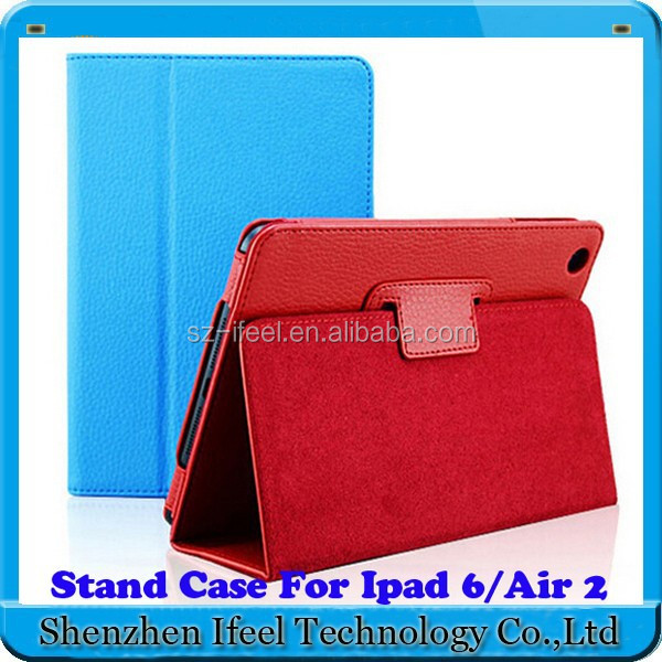 For iPad 6 PU Leather Case,Leather Tablet Case For Apple iPad 6/Air 2 Case