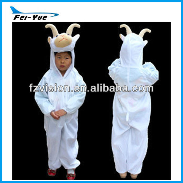 Manufacture Short Plush Goat party Costume for kids