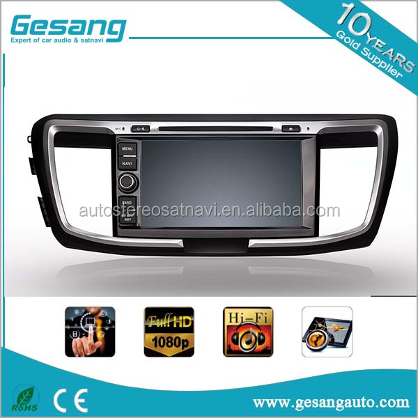 "car dvd player with 8"" touch screen gps car player bt and tv radio for HONDA Accord 9 (HONDA ACCORD 2013- / Ninth generation)"