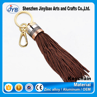 fashion design hot sale floating tassel leather keyring