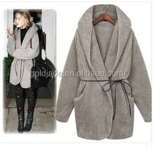 2014 Fashion women outerwear overcoat faux woolen winter coat