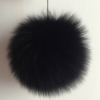 Genuine black 13cm fox fur ball/OEM/Drop Shipping