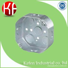 "electrical steel 4"" octagonal outlet box for cable installation"