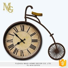 Countryside style battery operated vintage old fashioned table clock