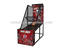 Practice basketball stand device with coin