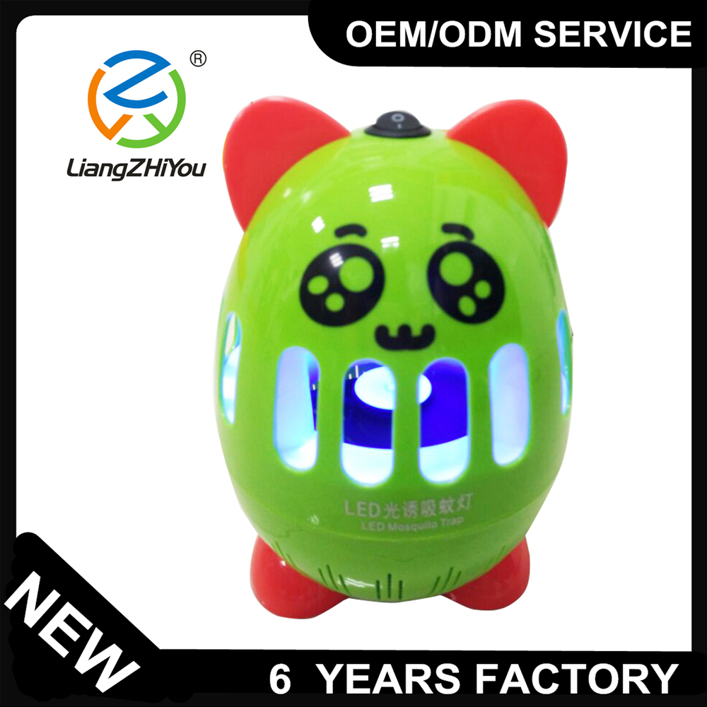 Energy saving hot sale small size led mosquito trap in lovely animal design