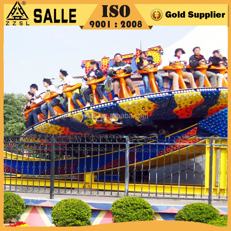 Factory Wholesale Swing Rides Fairground Park Amusement Skater Coaster Rides Amusement Disk'o Crazy UFO Rides