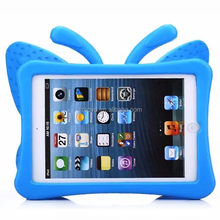 2016 Fashion 100% Brand New EVA Shockproof Case for IPad Mini 1 2 3 Cartoon Kids Safe 3D Butterfly Stand Cover for ipad Mini 123