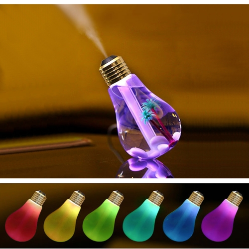 Hot sale cheap Colorful Light Portable Bulb Shape Aromatherapy Air Purifier Humidifier for Home / Office / Car