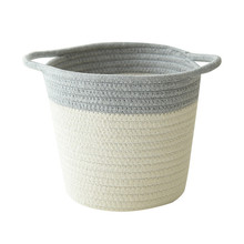 Comfortable Cotton Rope Storage Basket with Handles