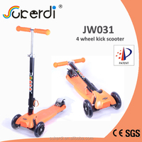 2014 new patent product high quality foldable kids kick scooter three wheel scooter moped