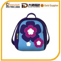 2014 new design cute flower small school bags personalized backpack for kids