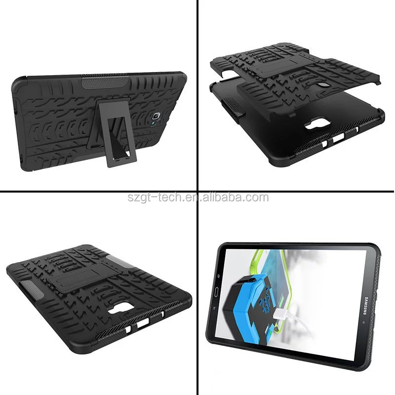 Newest Stylish armor rugged kickstand heavy duty TPU+PC combo tablet case For Samsung Note Tab 10.1 inch
