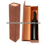 Luxury Leather Suede Cardboard Wine Gift Box With Custom Logo