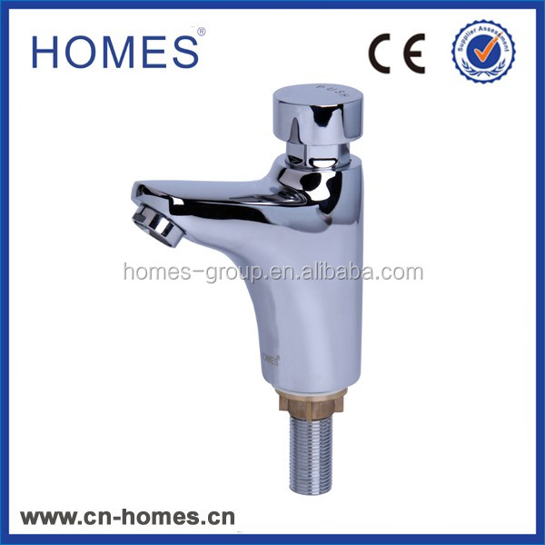 Mordern self closing delay action Basin push Tap