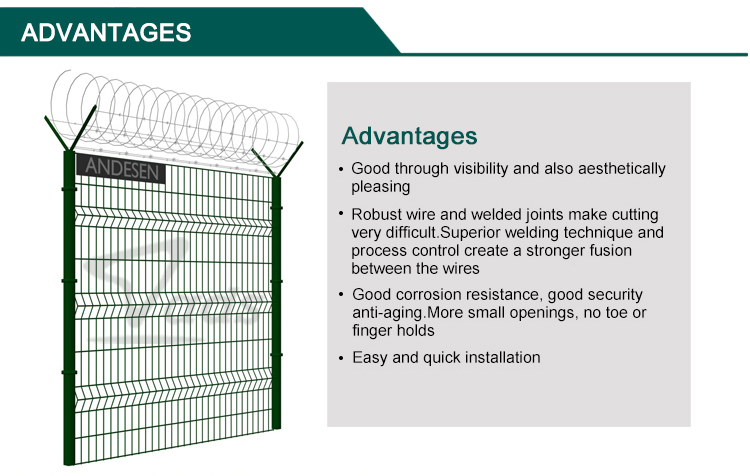 8 gauge white pvc coated welded wire fence