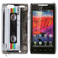 Special Design Removable PC Shell Hard Case Back Cover for Motorola XT910/912 Droid Razr with Cassette Tape