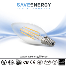 Dimmable Led Filament Bulb, 4W Candle Light E12 Led Filament Bulb, UL ES Led Filament Lighting Bulb Manufacturer