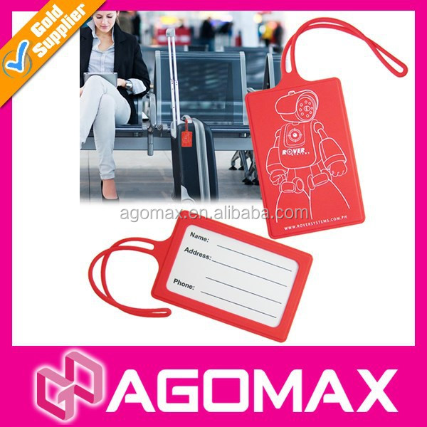 Private label functional colorful airline silicone luggage tag