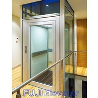 FUJI Home Elevator with glass carwall and doors