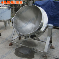Cooking Meat Pork Gas Heating Jacketed Boiling Kettle