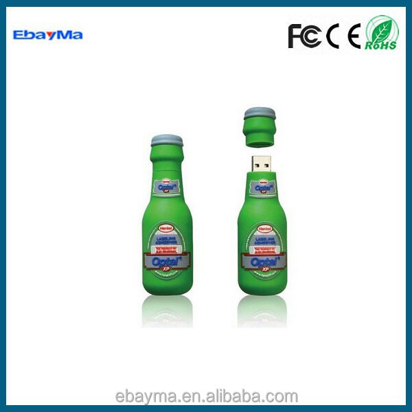 Promotional Bottle USB,Beer Bottle USB Flash Drive,USB Wine Bottle