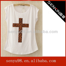 Loose t shirt for girls with OEM in china