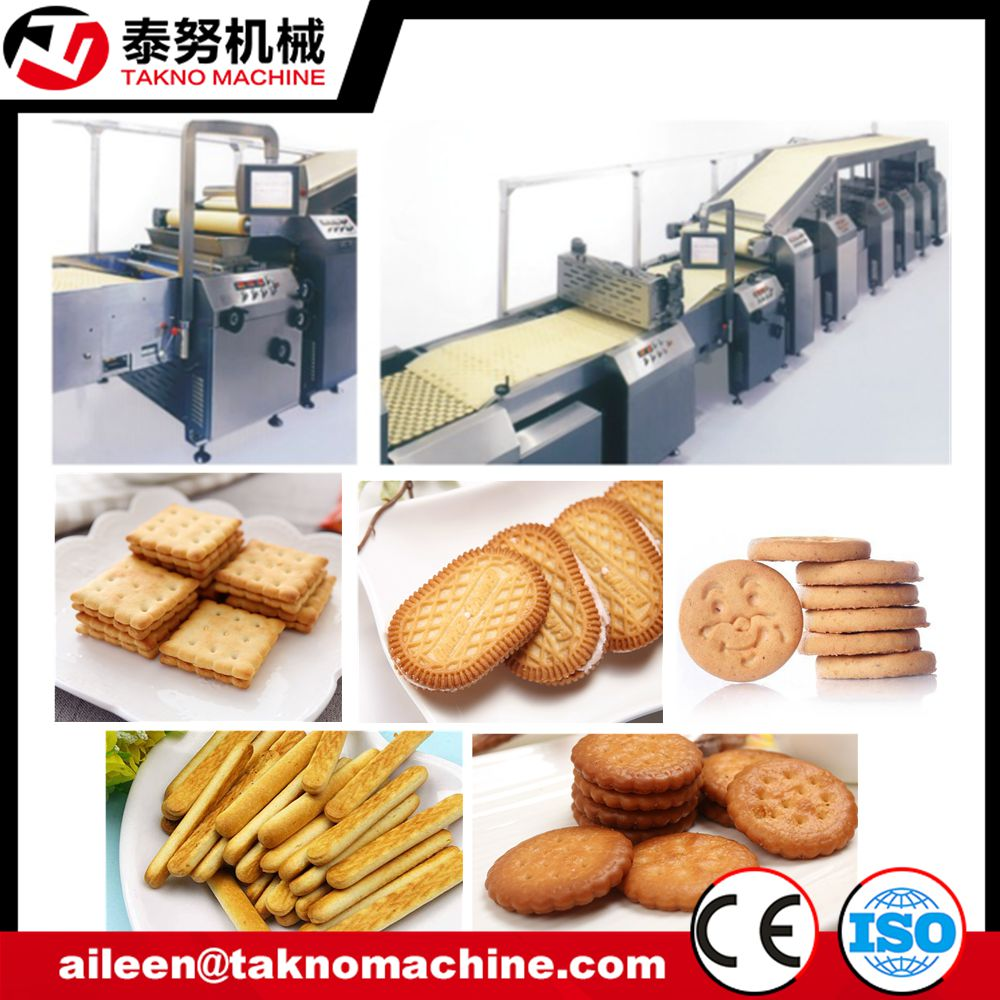 hard cracker biscuit forming and baking machine full process automatic