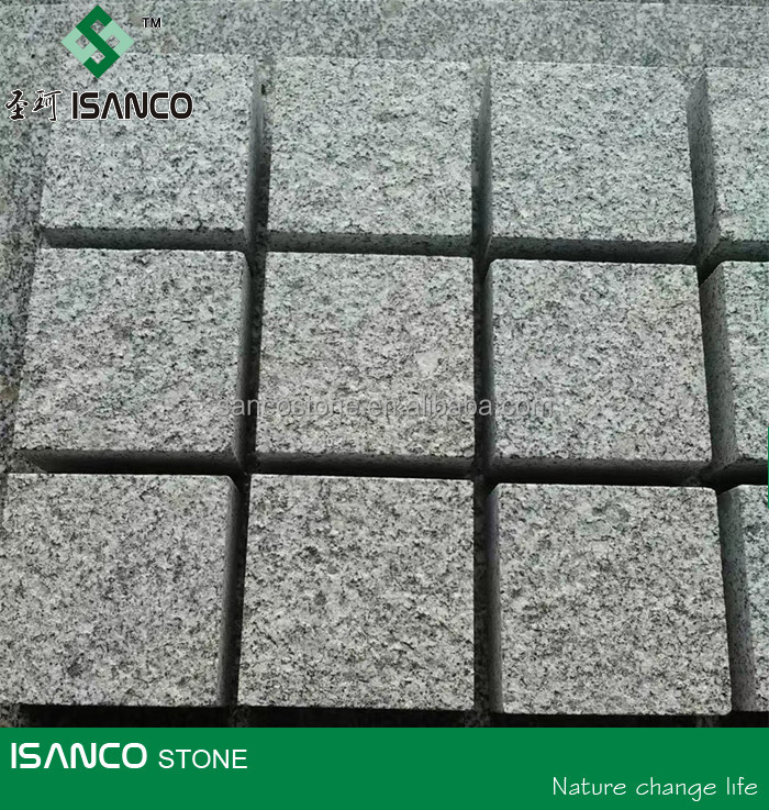 Flamed G341 Granite Cubes Grey Paving Stone 10x10x10