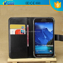 Fashion Wallet PU Flip Leather Case With Credit Card Slot Slots Pouch Stand for samsung galaxy s5 active