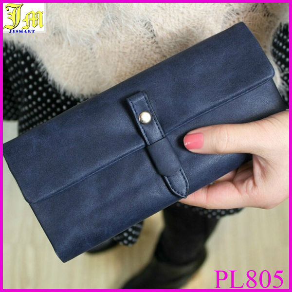 Wholesale Dull Polish Hasp Long Women Cheap Brand Wallets Carteira Zipper Wallets Women Clutch Purses