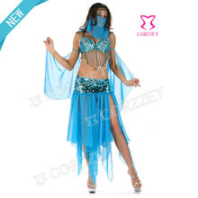 Factory Wholesale Women Blue Dance Competition Costumes