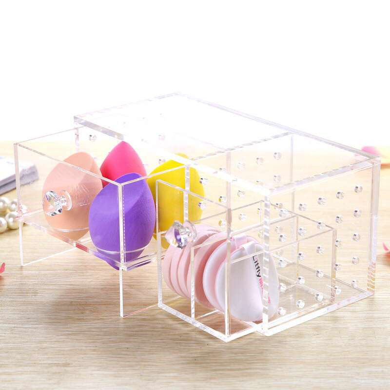 Acrylic clear crystal acrylic makeup egg storage box