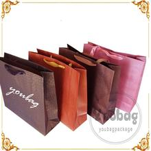 Hot sale machine made recycable kraft paper bag for food with Custom Printed Logo