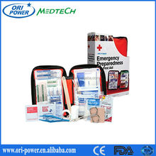 Wholesale FDA CE ISO approved promotional oem EVA road trip family camping first aid kit