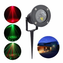 SUNY 12 Gobos RG Laser Waterproof Outdoor Indoor Projector Lights Landscape Garden Home Party Show Buried Christmas Day