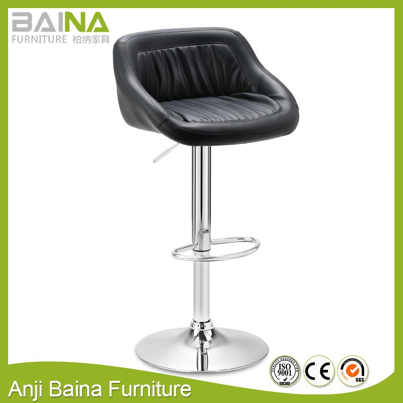 Fashionable pu leather design high chair for bar