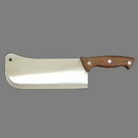 Good quality heavy butcher cleaver knife with wooden handle