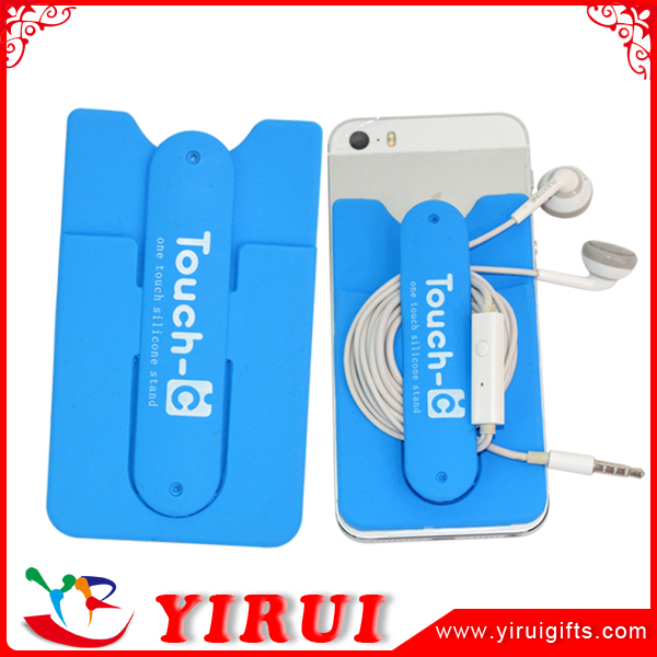 mini smartphone card holder pocket with 3m stick mobile phone wallet