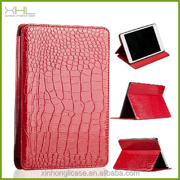 New product alligator leather flip stand case cover for ipad air 2