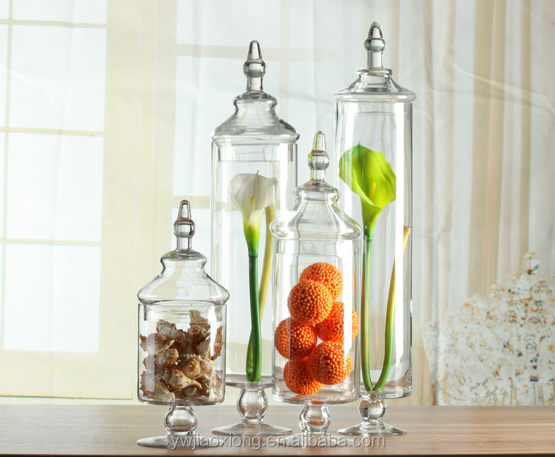 Decorative Glass Product : Large clear glass candy jar wedding decorative