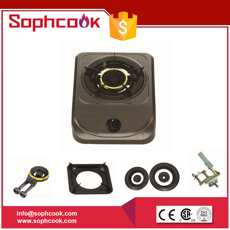 India style general used Single Burner gas range cooker