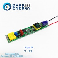 t8 tube9 driver elongated 18w high pf 0.9 high quality low price manufacturer China led driver